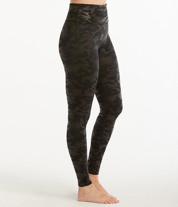 スパンク レディース カジュアルパンツ ボトムス Faux Leather Camo Leather Leggings Matte Black Camo