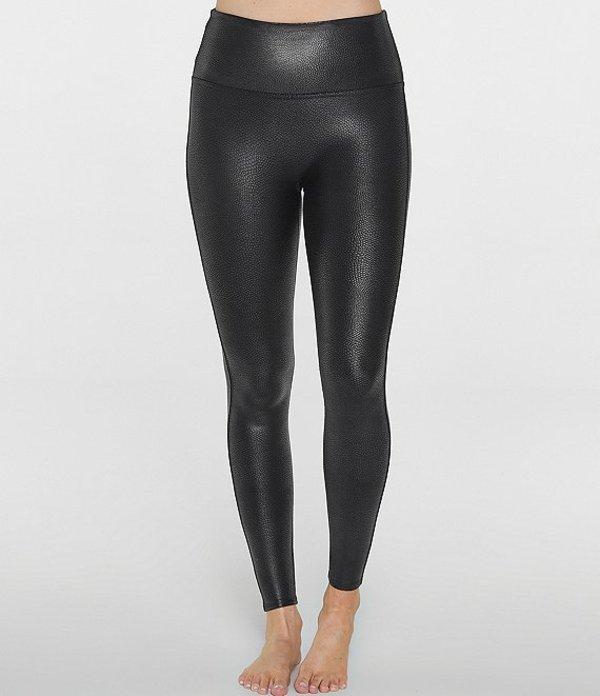 スパンク レディース カジュアルパンツ ボトムス Faux Leather Pebbled Leggings Pebble Grey