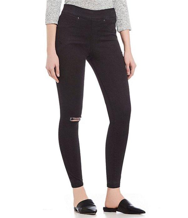 スパンク レディース カジュアルパンツ ボトムス Distressed Skinny Jean Legging Vintage Black
