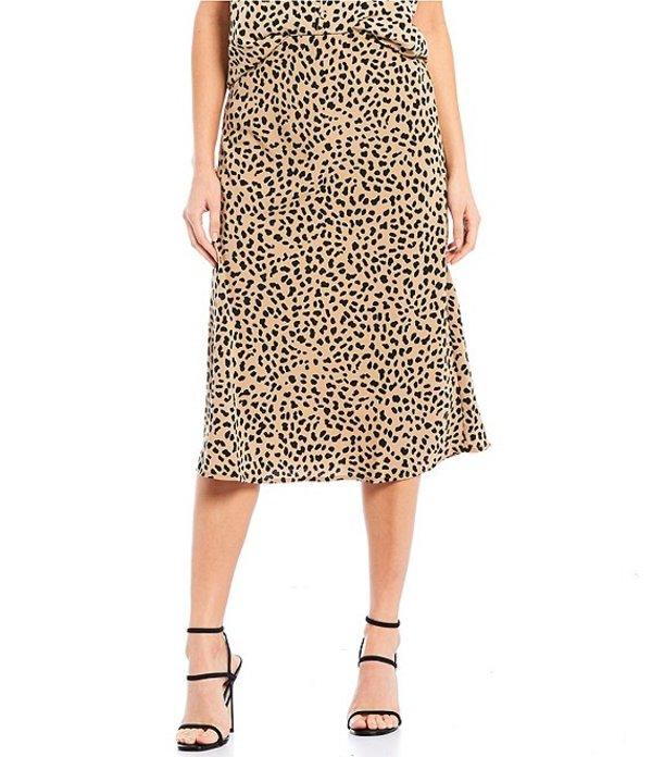 サンクチュアリー レディース スカート ボトムス Everyday Animal Print A-Line Midi Skirt Modern Spots