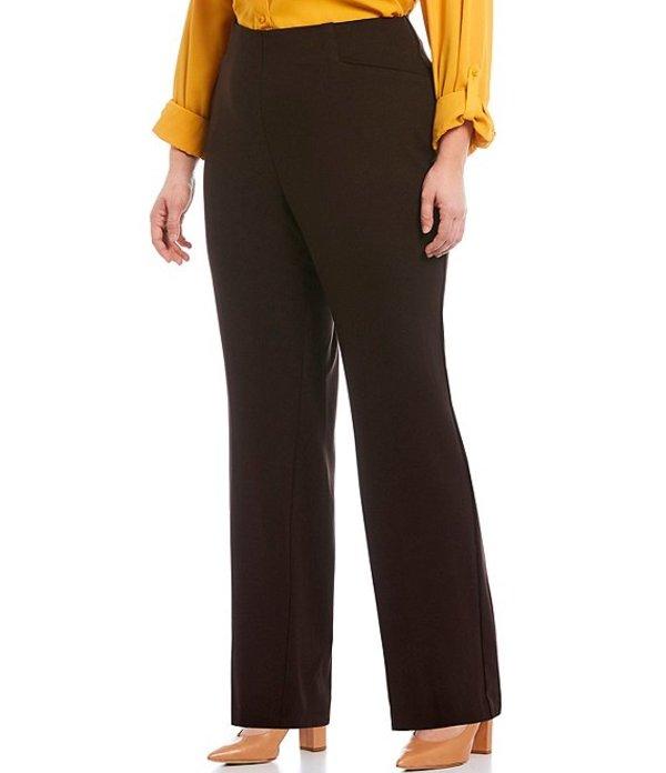 インベストメンツ レディース カジュアルパンツ ボトムス Plus Size the REGENT ST fit Pull-On Straight Leg Pants Hot Cocoa