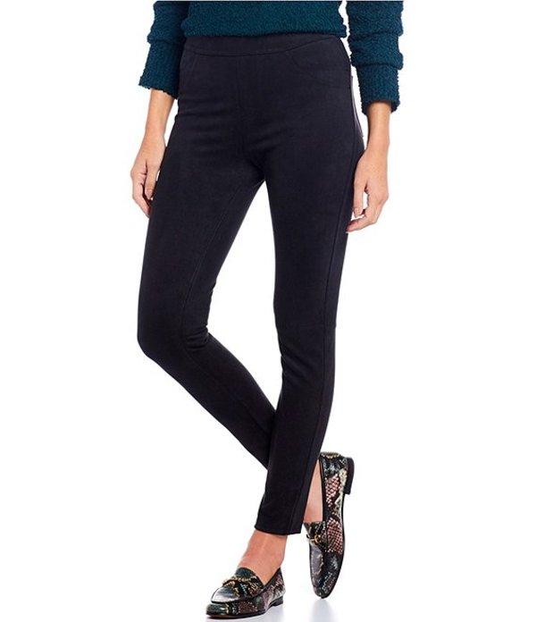 サンクチュアリー レディース カジュアルパンツ ボトムス Grease Faux Suede Textured Pull-On Leggings Black