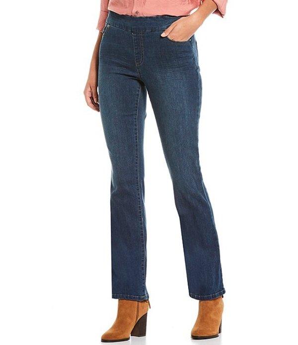 ウエストバウンド レディース デニムパンツ ボトムス High Rise Slim Boot Cut Jeans Dark Blue