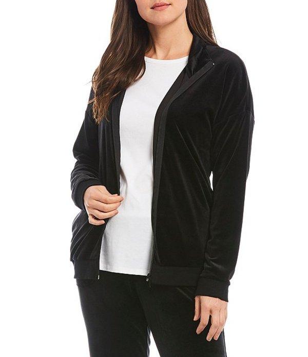 スペンス レディース ジャケット・ブルゾン アウター Sport Velour Zip Up Jacket Black