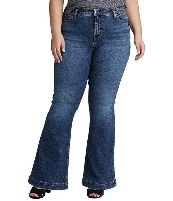 シルバー ジーンズ レディース デニムパンツ ボトムス Plus Size High Note Flare Jean Indigo