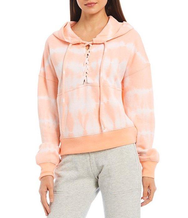 フリーピープル レディース ジャケット・ブルゾン アウター FP Movement Tie Dye Believer Sweatshirt Hoodie Peach Horizon
