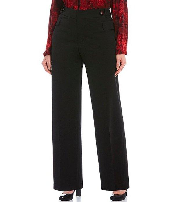 カルバンクライン レディース カジュアルパンツ ボトムス Plus Size Scuba Wide Leg Pants Black