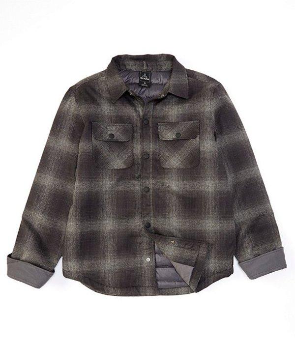 プラーナ メンズ ジャケット・ブルゾン アウター PrAna Showdown Water-Repellent Snap-Front Jacket Gravel