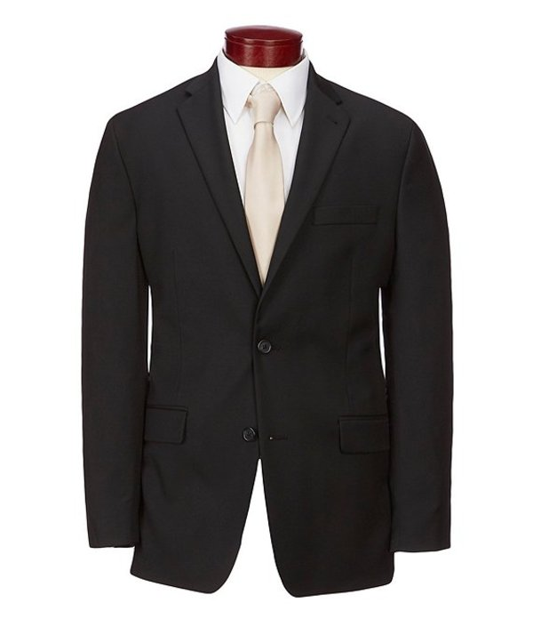 ムラノ メンズ ジャケット・ブルゾン アウター Big & Tall Wardrobe Essentials Classic-Fit Suit Separates Twill Blazer Black