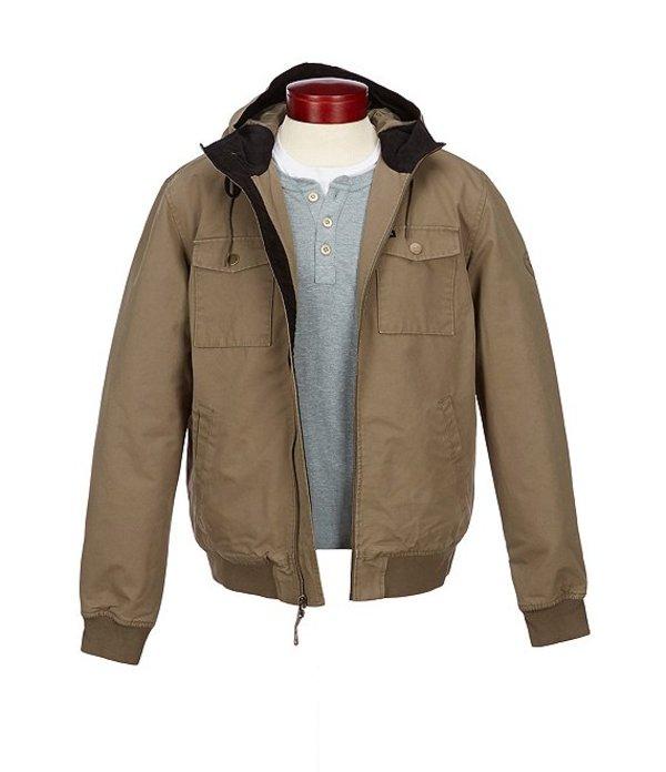 ルーカ メンズ ジャケット・ブルゾン アウター Bomber High-Neck Hooded Jacket Olive