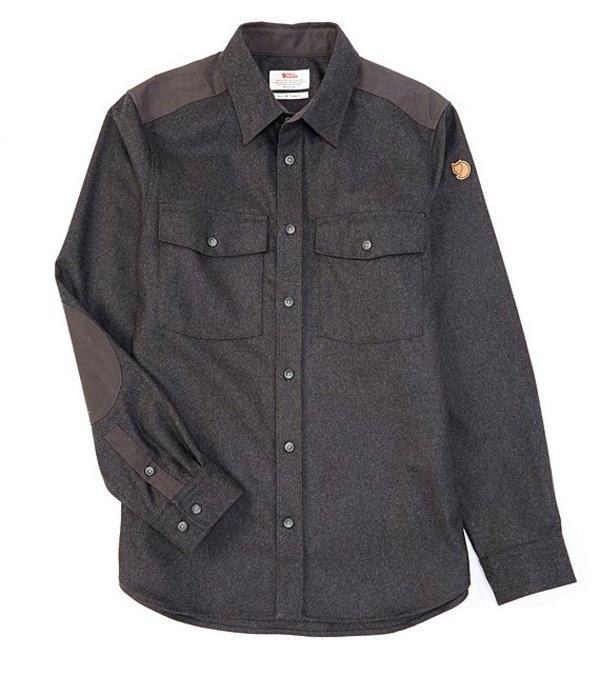 フェールラーベン メンズ シャツ トップス Ovik Re-Wool Solid Long-Sleeve Woven Shirt Dark Grey