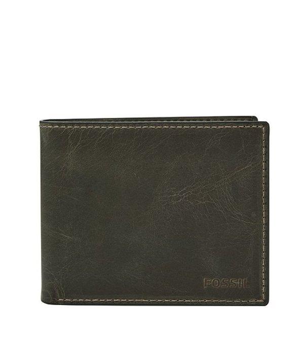フォッシル メンズ 財布 アクセサリー RFID Derrick Bifold Wallet with Flip ID Cement