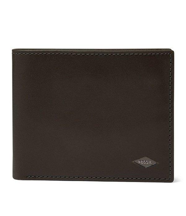 フォッシル メンズ 財布 アクセサリー Ryan RFID Bifold Wallet with Flip ID Cement