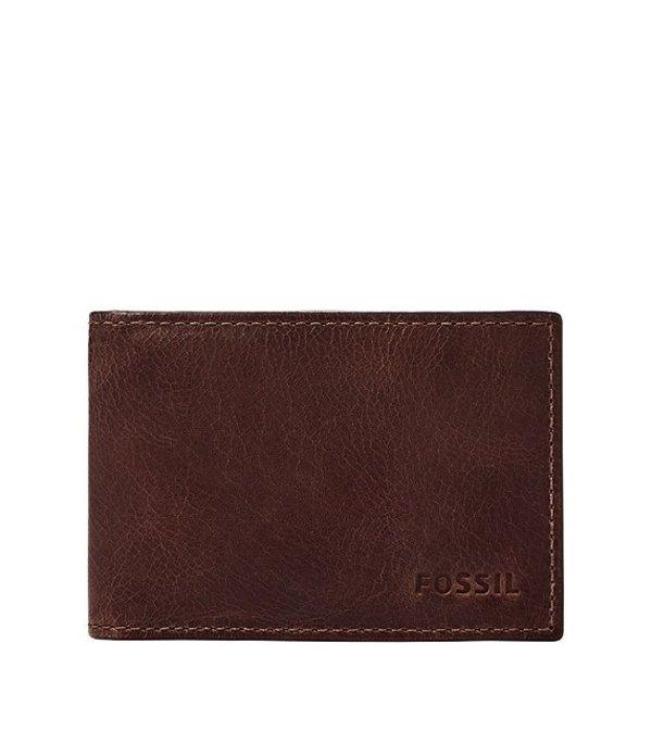 フォッシル メンズ 財布 アクセサリー Derrick RFID Money Clip Bifold Wallet Black Cherry