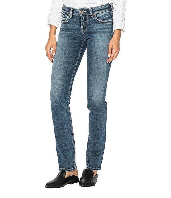 シルバー ジーンズ レディース デニムパンツ ボトムス Suki Straight Leg Jeans Indigo