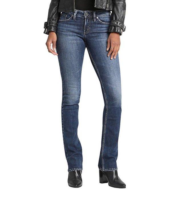 シルバー ジーンズ レディース デニムパンツ ボトムス Suki Super Stretch Slim Bootcut Jeans Indigo
