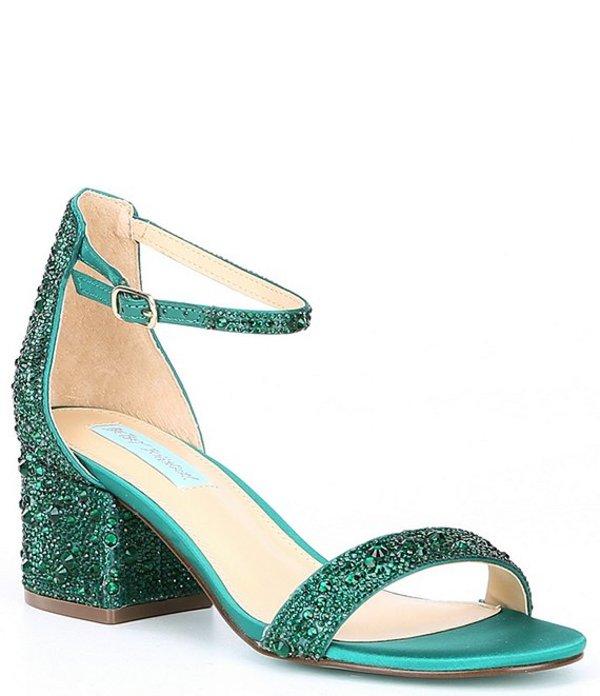 ベッツィジョンソン レディース サンダル シューズ Mari Block Heel Dress Sandals Green