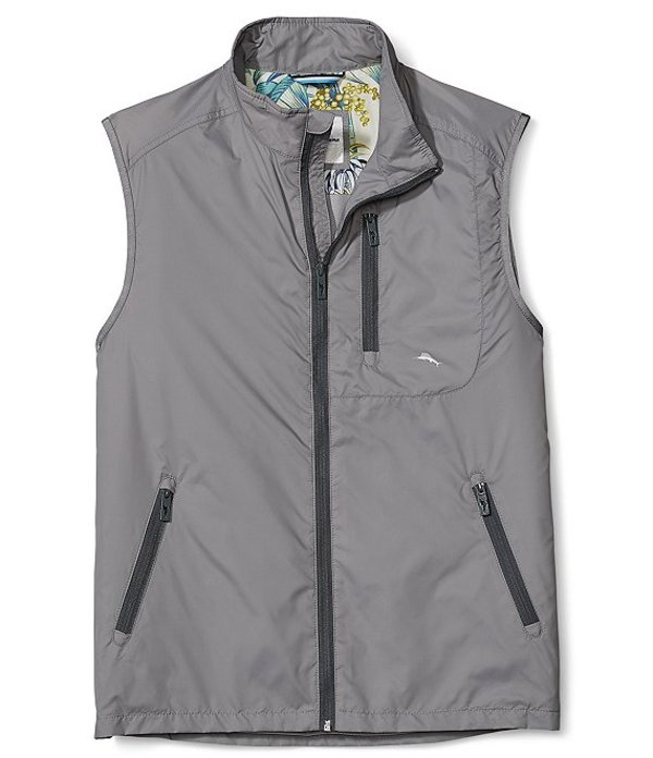 トッミーバハマ メンズ ベスト アウター Nine Iron Water-Repellent Full-Zip Vest Bala Shark