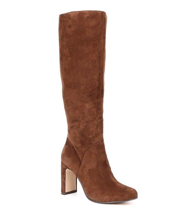 チェルシーアンドバイオレット レディース ブーツ・レインブーツ シューズ Angie Suede Blade-Heel Tall Boots Brown