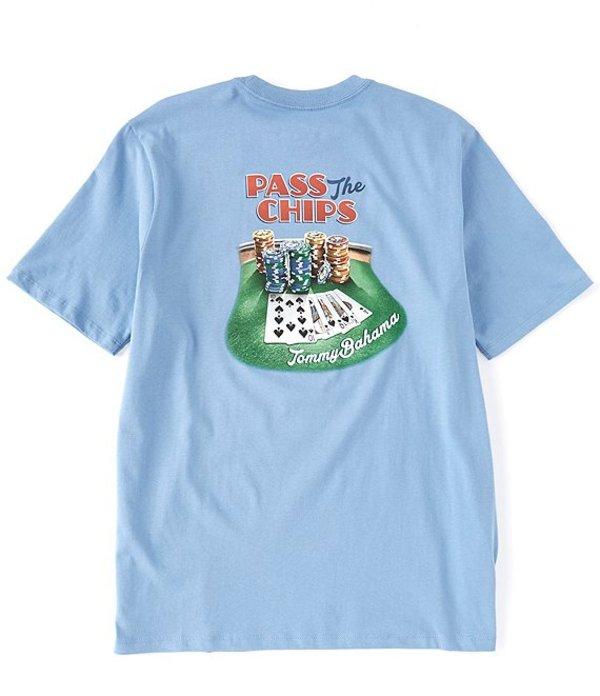 トッミーバハマ メンズ シャツ トップス Pass The Chips Short-Sleeve Tee Blue Yonder