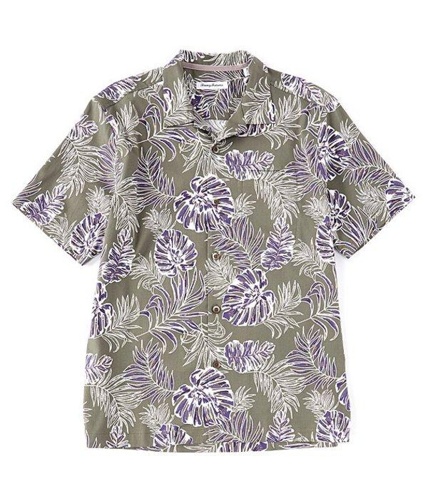 トッミーバハマ メンズ シャツ トップス Canyon Leaves Short-Sleeve Woven Shirt Tea Leaf