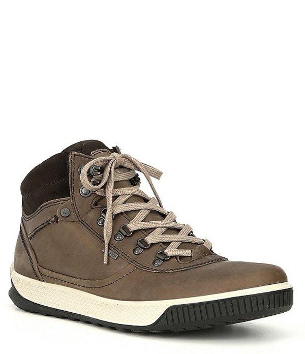 エコー メンズ ドレスシューズ シューズ Men's Byway Tred GTX Urban Waterproof Oiled Suede Leather Boot Moonrock/Licorice