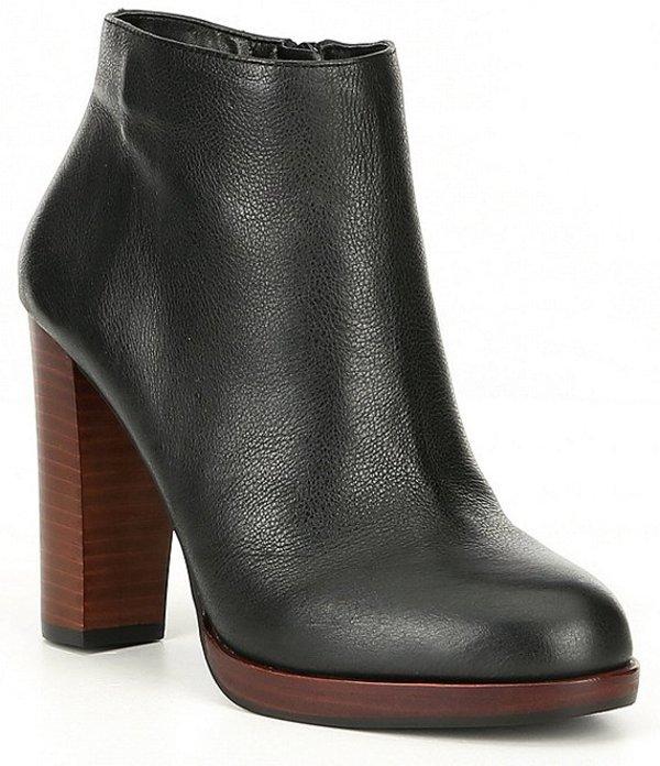 ジービー レディース ブーツ・レインブーツ シューズ Wynd-Up Leather Platform Booties Black