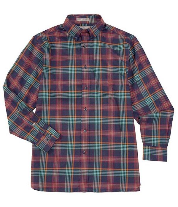 ダニエル クレミュ メンズ シャツ トップス Daniel Cremieux Signature Heather Medium Plaid Long-Sleeve Woven Shirt Dark Navy