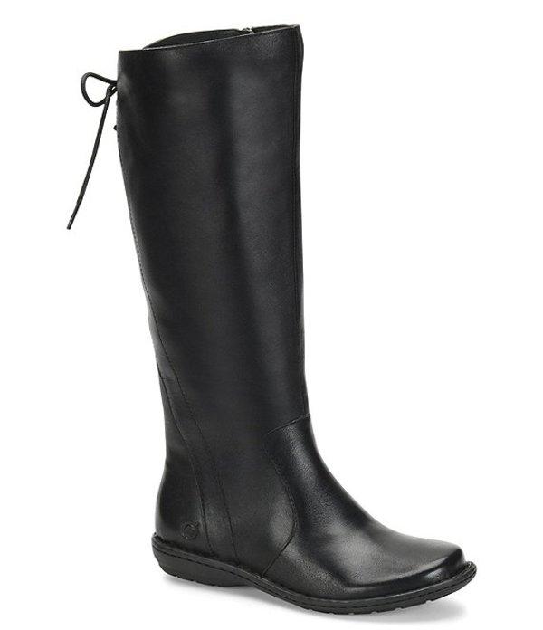 ボーン レディース ブーツ・レインブーツ シューズ Caladium Tall Lace Back Leather Boot Black