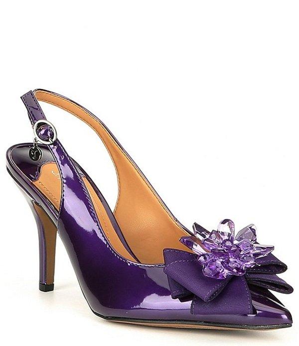 ジェイレニー レディース ヒール シューズ Denyell Slingback Pumps Purple