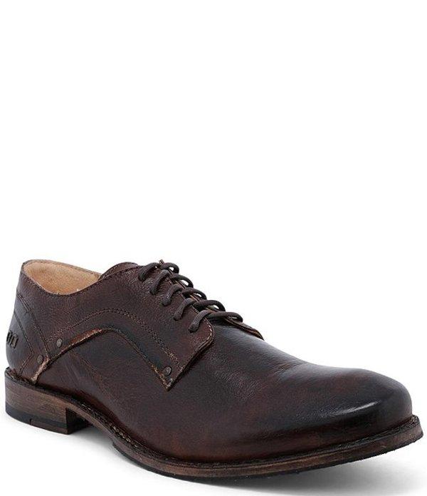 ベッドステュ メンズ ドレスシューズ シューズ Men's Larino Leather Oxford Teak Rustic