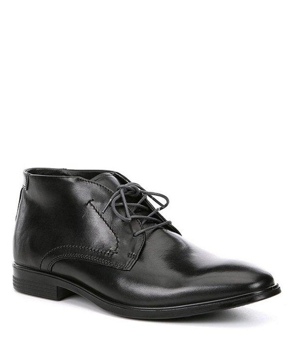 エコー メンズ ドレスシューズ シューズ Men's Melbourne Leather Chukka Boots Black