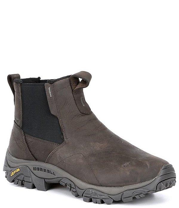 メレル メンズ ブーツ・レインブーツ シューズ Men's Moab Adventure Chelsea Polar Leather Fleece Lined Waterproof Boot Brown