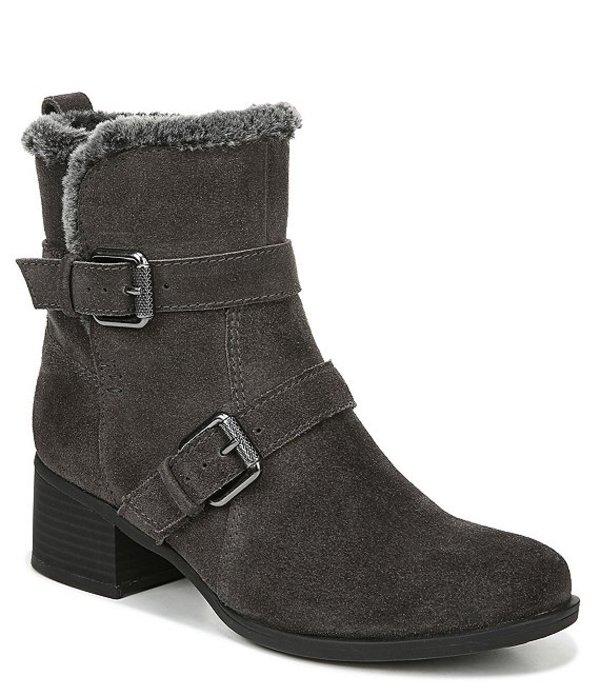 ナチュライザー レディース ブーツ・レインブーツ シューズ Deanne Waterproof Suede Block Heel Boots Dark Grey WP Suede
