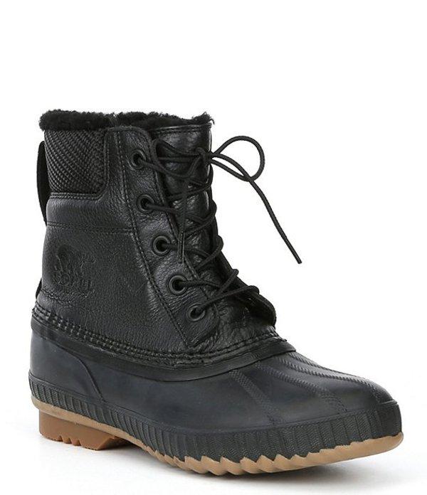 ソレル メンズ ブーツ・レインブーツ シューズ Men's Cheyanne Lux Waterproof Microfleece Lined Lace-Up Boot Black