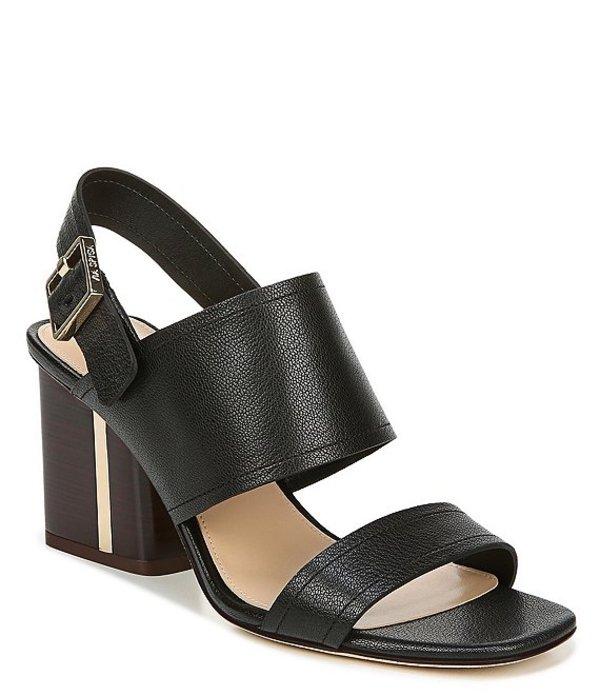 ヴィアスピガ レディース ブーツ・レインブーツ シューズ Harriett Leather Block Heel Dress Sandals Black