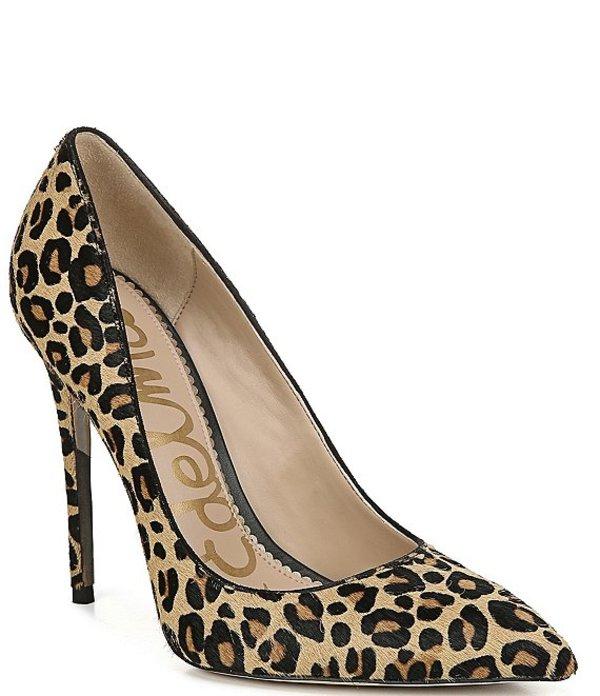 サムエデルマン レディース ヒール シューズ Danna Leopard Print Hair Calf Pumps New Nude Leopard