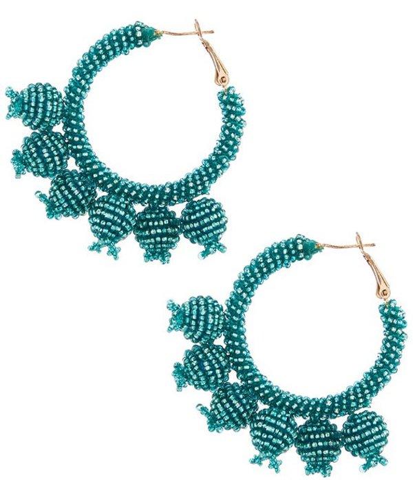 アンナ&アヴァ レディース ピアス・イヤリング アクセサリー Beaded Bauble Hoop Earrings Turquoise