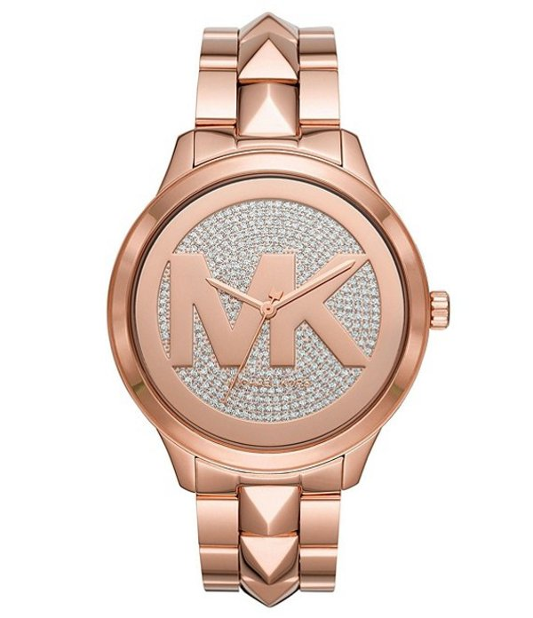 マイケルコース レディース 腕時計 アクセサリー Runway Mercer Three-Hand Rose Gold-Tone Stainless Steel Watch Rose Gold