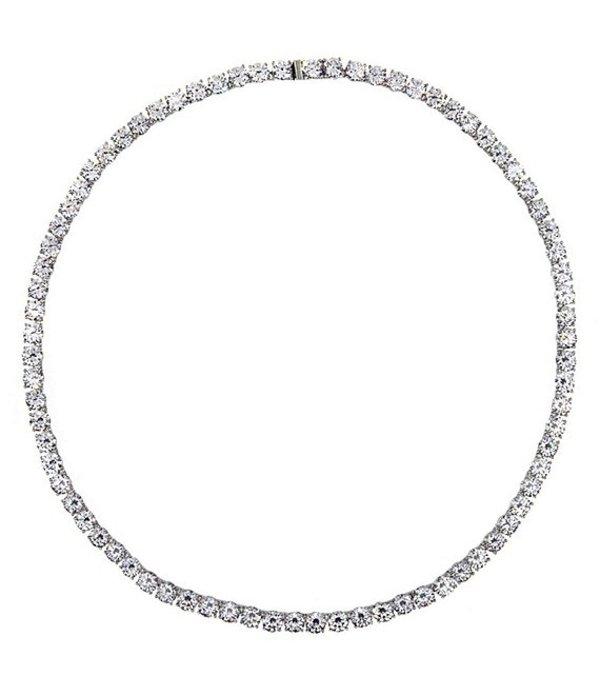 ナディール レディース ネックレス・チョーカー アクセサリー Delicate All Around Rhodium Necklace Silver/Crystal