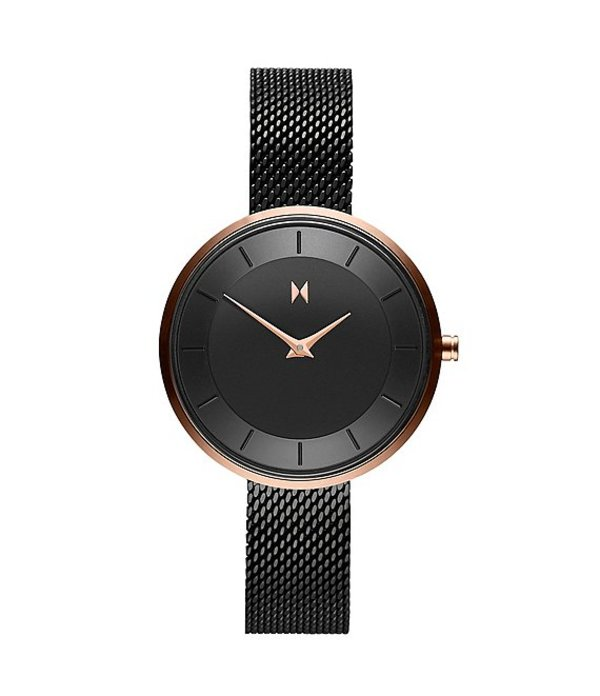 エムブイエムティー レディース 腕時計 アクセサリー Mod Collection RB3 Mesh Quartz Analog Bracelet Watch Black