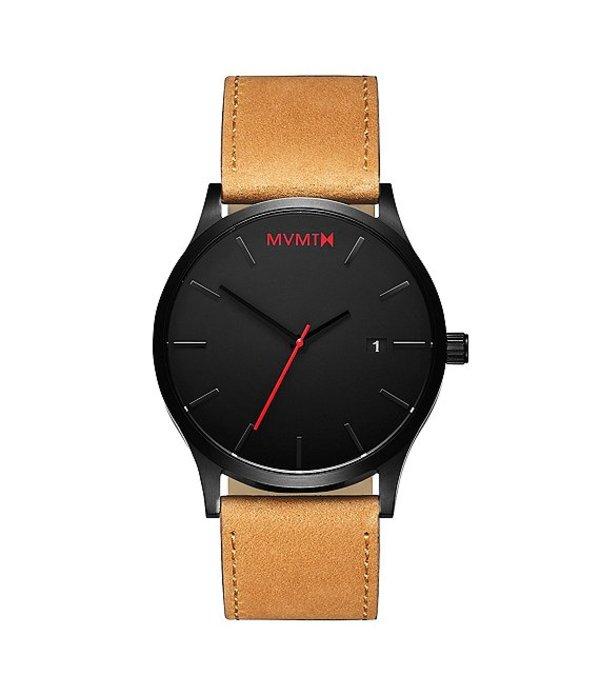 エムブイエムティー メンズ 腕時計 アクセサリー Men's Classic Tan Leather Quartz Analog Watch Tan/Black