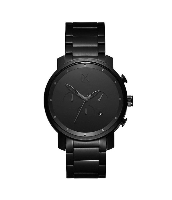 エムブイエムティー メンズ 腕時計 アクセサリー Men's Chronograph Black Link Bracelet Watch Black