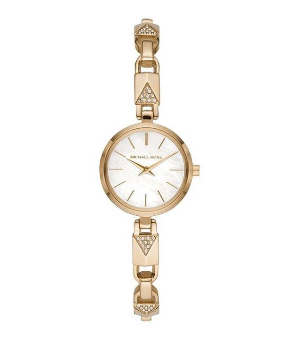 マイケルコース レディース 腕時計 アクセサリー Jaryn Mercer Chain Goldtone Bracelet Watch Gold