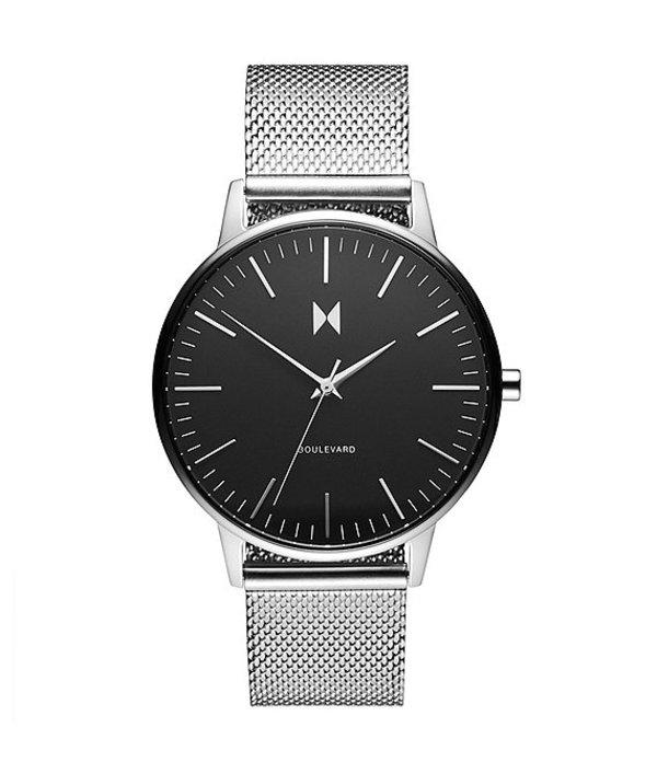 エムブイエムティー レディース 腕時計 アクセサリー Boulevard Collection Wilshire Stainless Steel Mesh Bracelet Watch Silver