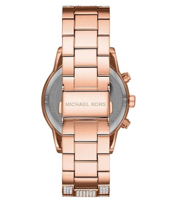 マイケルコース レディース 腕時計 アクセサリー Ritz Three Hand Glitz Rose Gold Tone Stainless Steel Watch Rose Gold1cTlFJK3