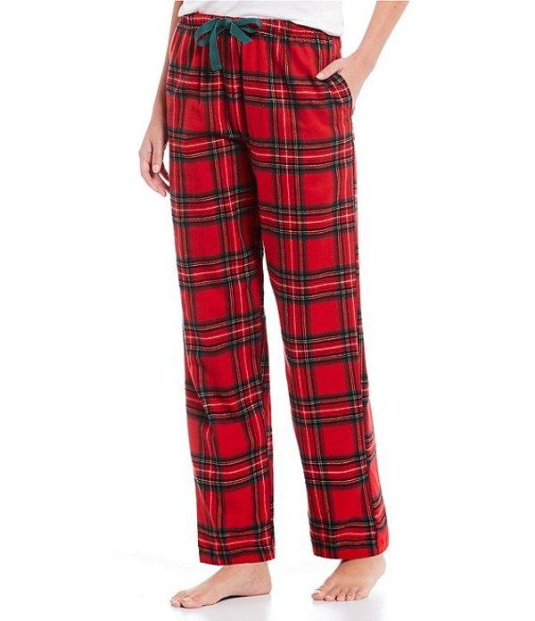 スリープ センス レディース カジュアルパンツ ボトムス Portuguese Flannel Layla Plaid Print Sleep Pants Chinese Red