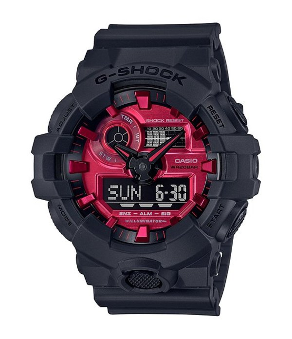 ジーショック レディース 腕時計 アクセサリー G-shock Analog-Digital Black Shock Resistant Resin Watch Black