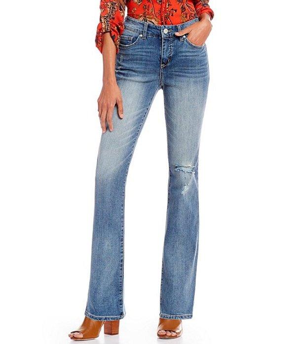 コード ブルー レディース デニムパンツ ボトムス Petite Size Chelsea Destruction Detail Bootcut Jeans Spencer/Rock Hill