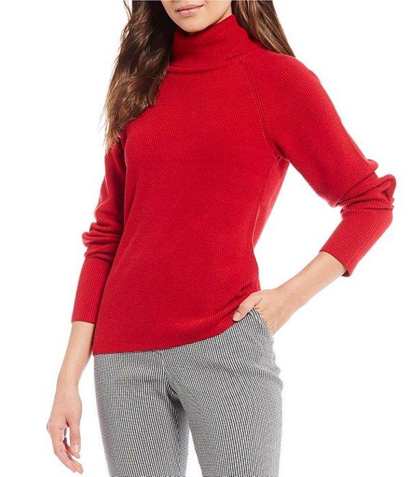 アントニオ メラーニ レディース Tシャツ トップス Alice Long Sleeve Turtleneck Wool Blend Sweater Crimson